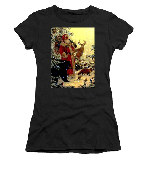 Women's T-Shirt (Junior Cut) featuring the photograph St Nick  And Friends by Judyann Matthews