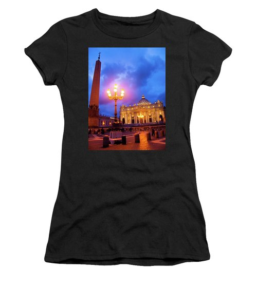 St. Peters Cathedral At Night Women's T-Shirt (Athletic Fit)