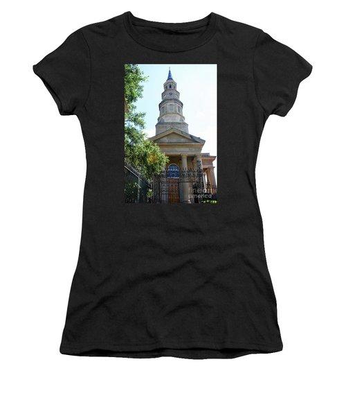St. Phillips Episcopal Church, Charleston, South Carolina Women's T-Shirt (Athletic Fit)