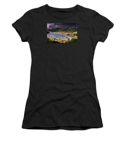 St Thomas Nights Women's T-Shirt (Athletic Fit)