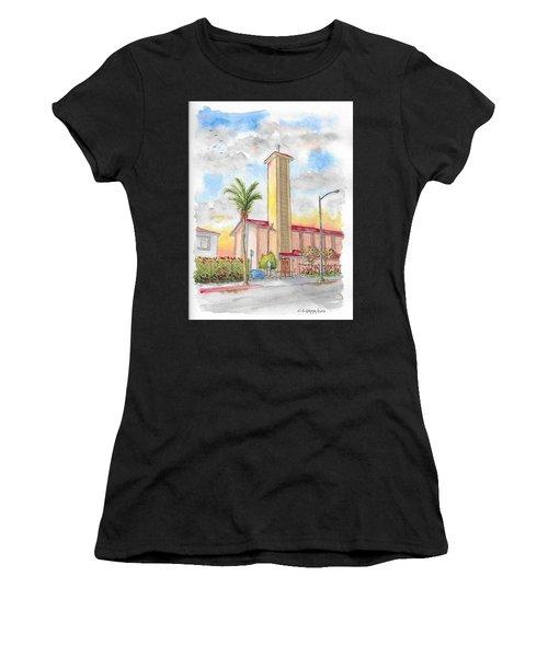 St. Victor's Catholic Church, West Hollywood, Ca Women's T-Shirt