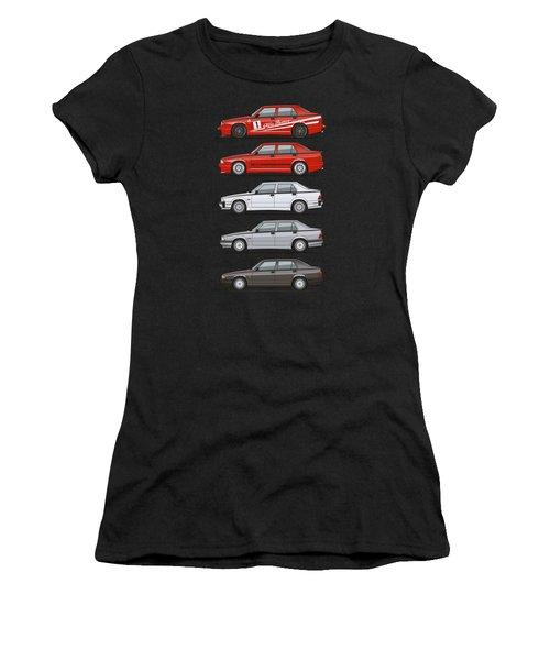 Stack Of Alfa Romeo 75 Tipo 161, 162b Milanos  Women's T-Shirt