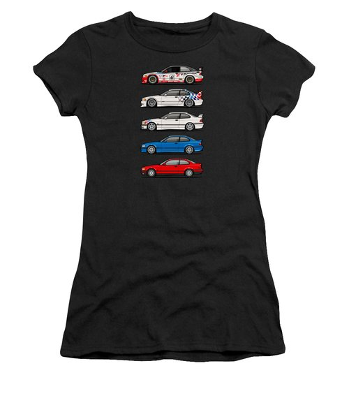 Stack Of Bmw 3 Series E36 Coupes Women's T-Shirt (Athletic Fit)