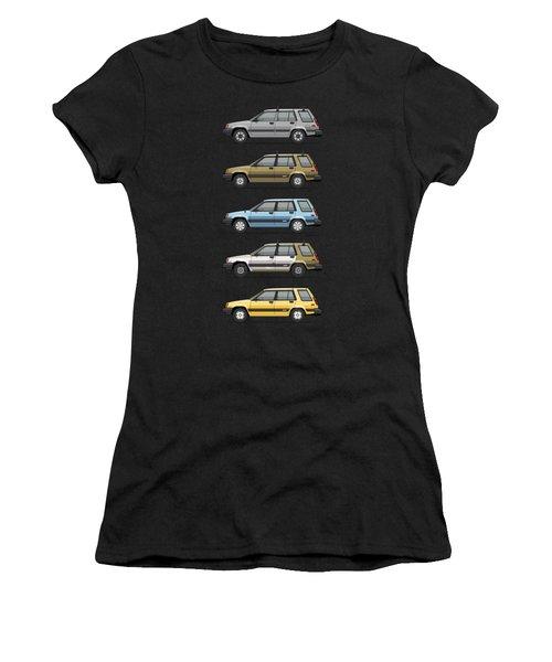 Stack Of Mark's Toyota Tercel Al25 Wagons Women's T-Shirt