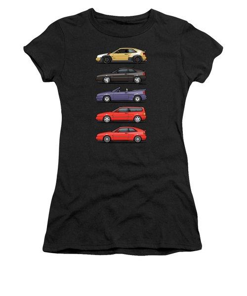 Stack Of Vw Corrados Women's T-Shirt