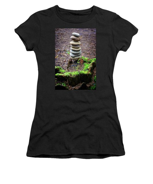 Women's T-Shirt (Junior Cut) featuring the photograph Stacked Stones And Fairy Tales II by Marco Oliveira