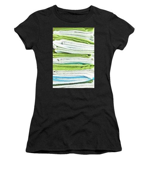 Stacked Tea Towels Women's T-Shirt