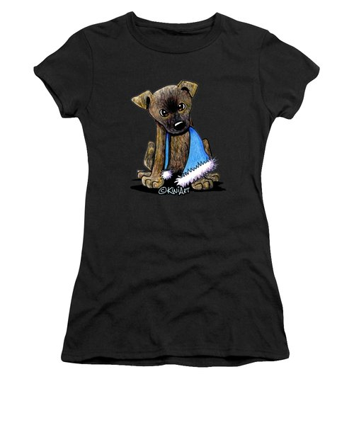 Staffordshire Bull Terrier Brindle Pup Women's T-Shirt (Athletic Fit)