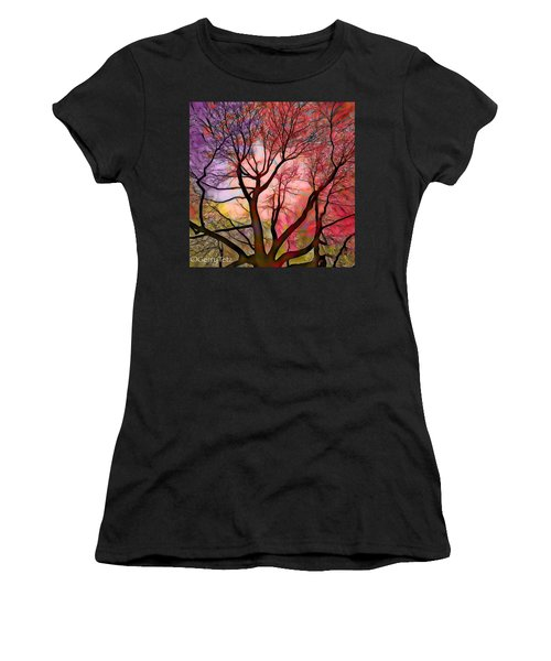 Stained Glass Sunrise 2 Women's T-Shirt (Athletic Fit)