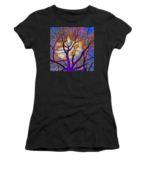 Stained Glass Sunrise Women's T-Shirt (Athletic Fit)