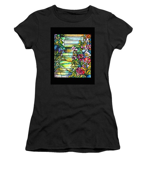 Stained Glass Tiffany Robert Mellon House Women's T-Shirt (Athletic Fit)