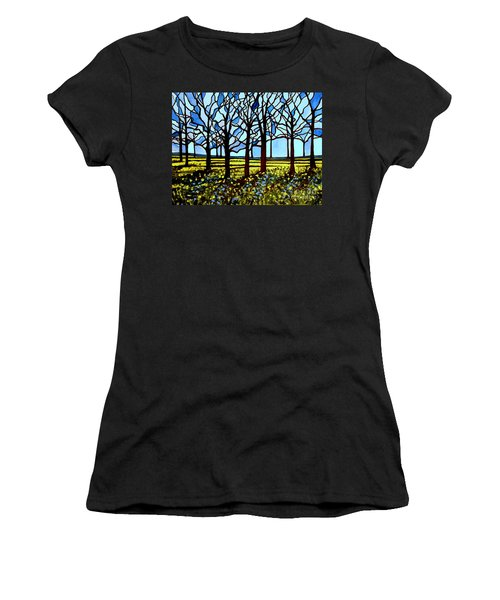 Stained Glass Trees Women's T-Shirt (Athletic Fit)