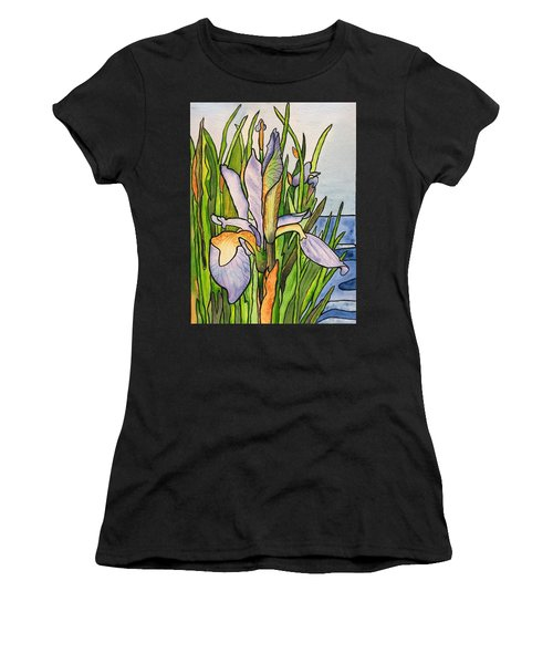 Stained Iris Women's T-Shirt (Athletic Fit)
