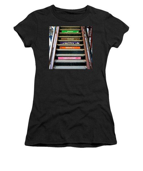 Stairs To The Chicago L Women's T-Shirt (Athletic Fit)