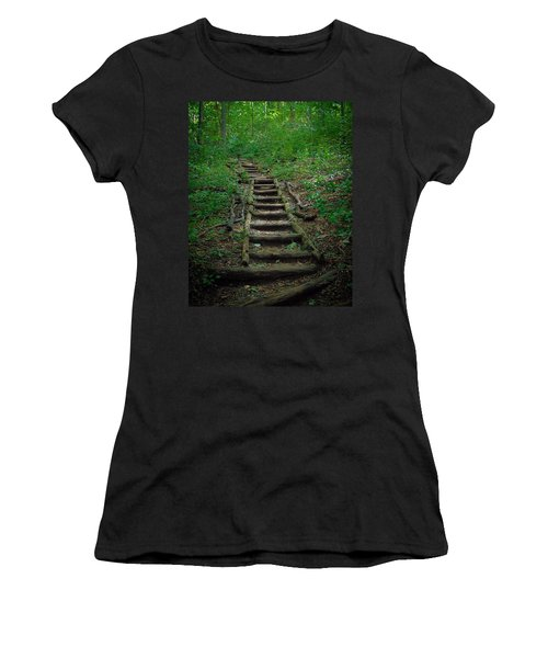Stairway At Unicoi Gap On The At Women's T-Shirt