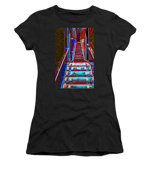 Stairway To Bliss Women's T-Shirt (Athletic Fit)