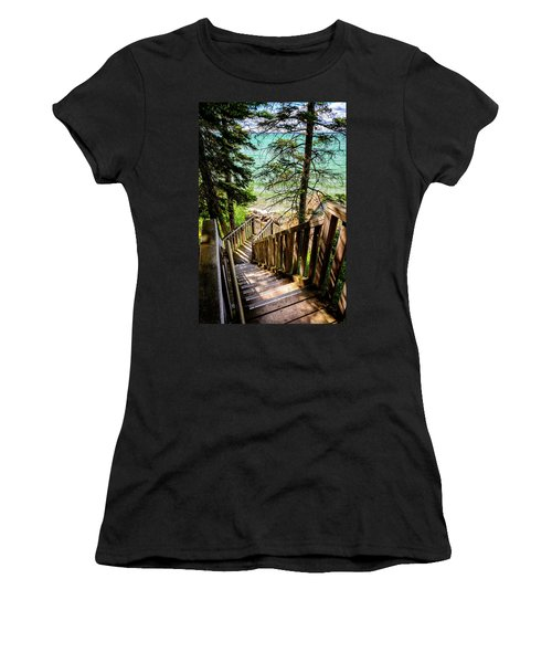 Stairways To Paradise Women's T-Shirt (Athletic Fit)