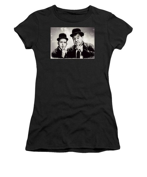 Stan And Ollie Comedy Duos Women's T-Shirt (Athletic Fit)