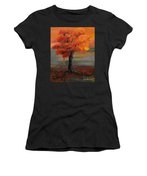 Stand Alone In Color - Autumn - Tree Women's T-Shirt