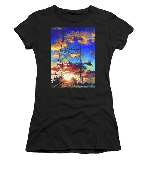 Women's T-Shirt featuring the painting Stand Tall by Bonnie Lambert