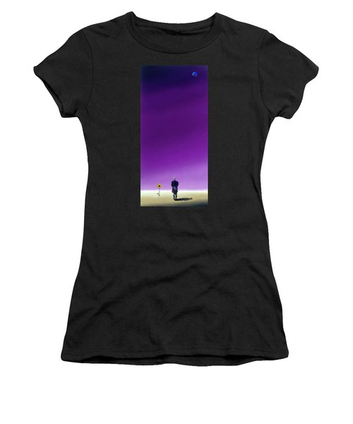 Standing Alone Waiting For The Bowling Balls To Fall When Night Comes Women's T-Shirt (Athletic Fit)