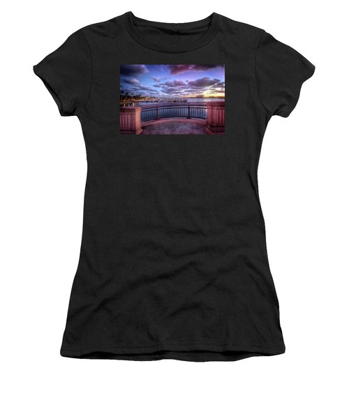 Standing On The Bridge Women's T-Shirt