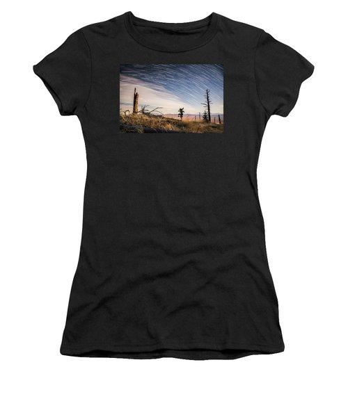 Star Trails Over Mt. Graham Women's T-Shirt