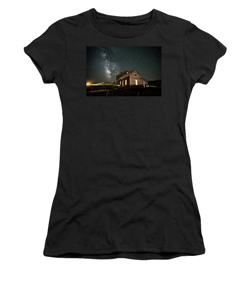 Women's T-Shirt featuring the photograph Star Valley Cabin by Wesley Aston