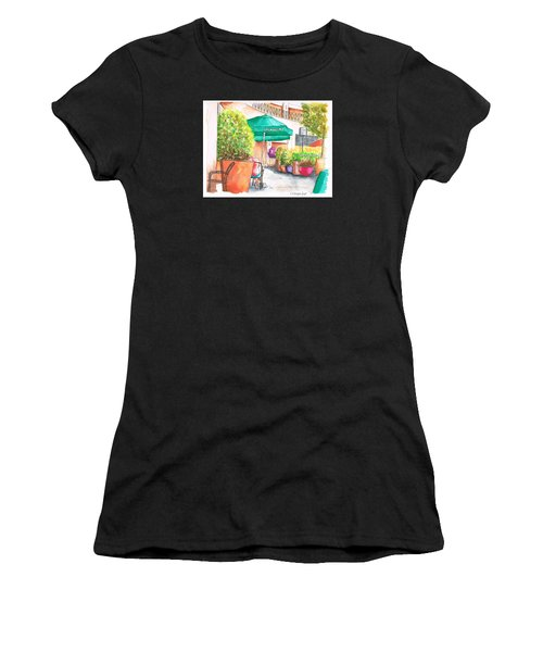 Starbucks Coffee, Sunset Blvd, And Cresent High, West Hollywood, Ca Women's T-Shirt (Athletic Fit)