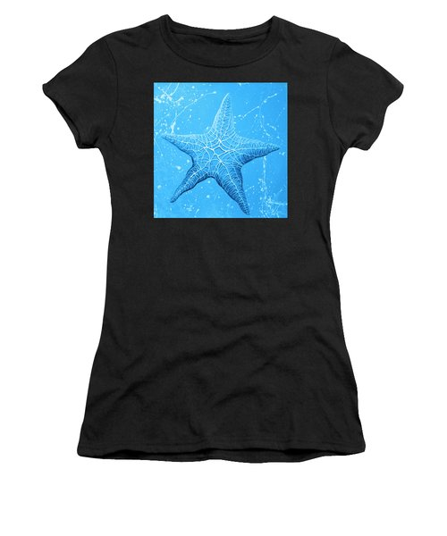 Starfish In Blue Women's T-Shirt