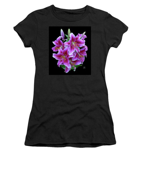 Stargazer Lily Cutout Women's T-Shirt (Athletic Fit)