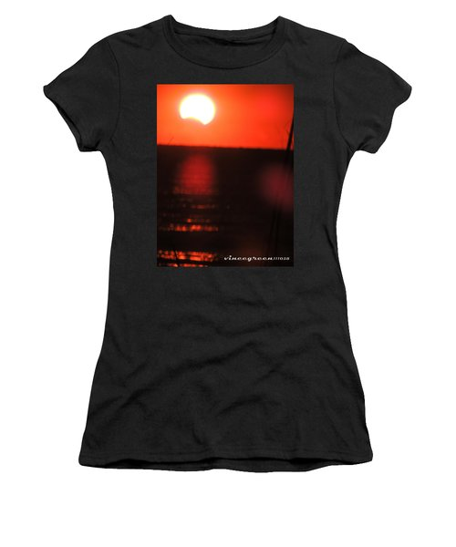 Staring Into A Star Eclipsed Women's T-Shirt