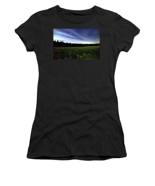 Starlight And Fireflies Women's T-Shirt (Athletic Fit)