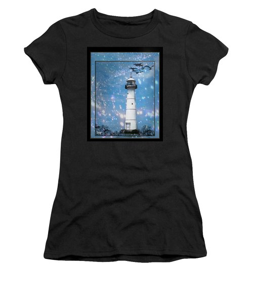 Starlight Lighthouse Women's T-Shirt (Athletic Fit)