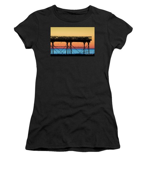 Starlings At Sunset In Aberystwyth Women's T-Shirt