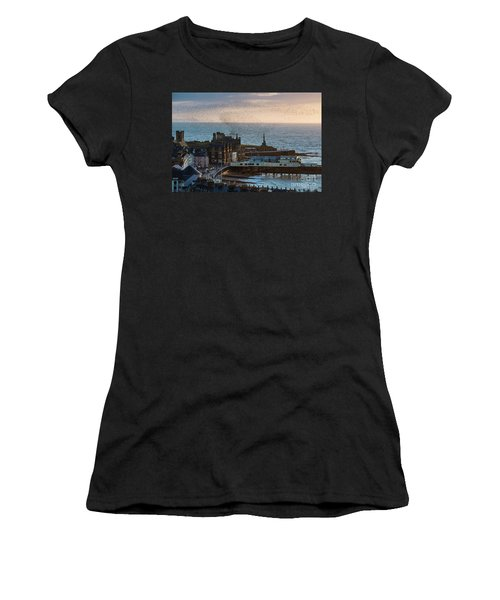 Starlings Over Aberystwyth On The West Wales Coast Women's T-Shirt