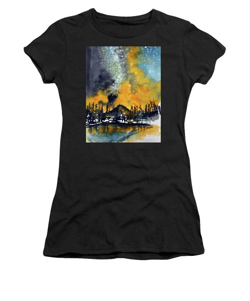 Starry Night Women's T-Shirt (Athletic Fit)