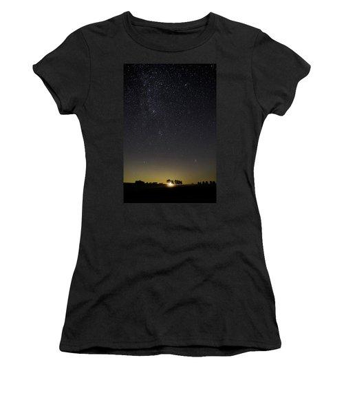Starry Sky Over Virginia Farm Women's T-Shirt