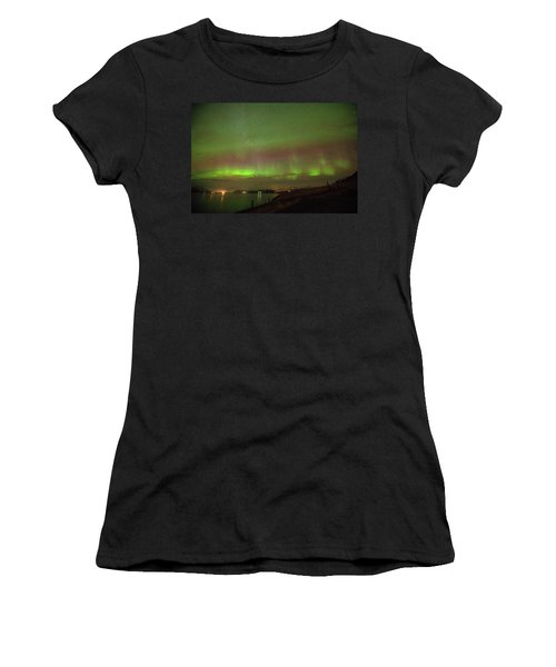 Stars And Northern Lights Women's T-Shirt