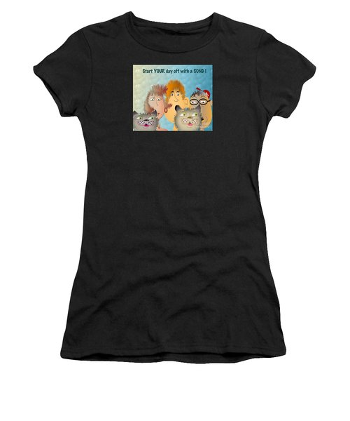 Start Off Your Day With A Song Women's T-Shirt (Athletic Fit)