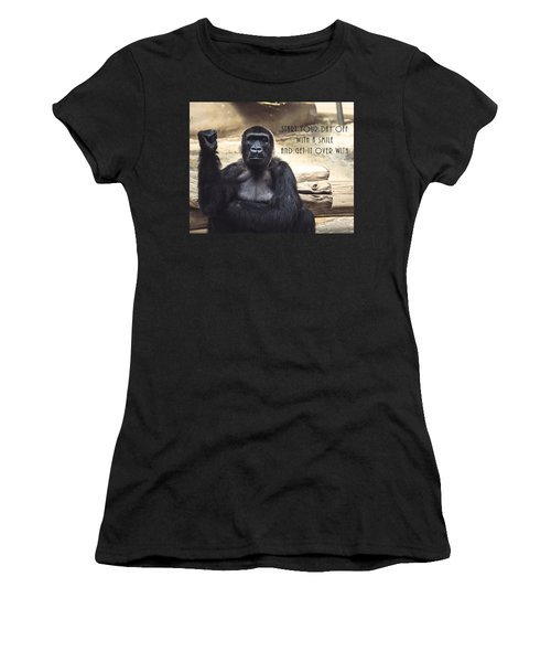 Women's T-Shirt (Athletic Fit) featuring the digital art Start Your Day Off With A Smile by Anthony Murphy
