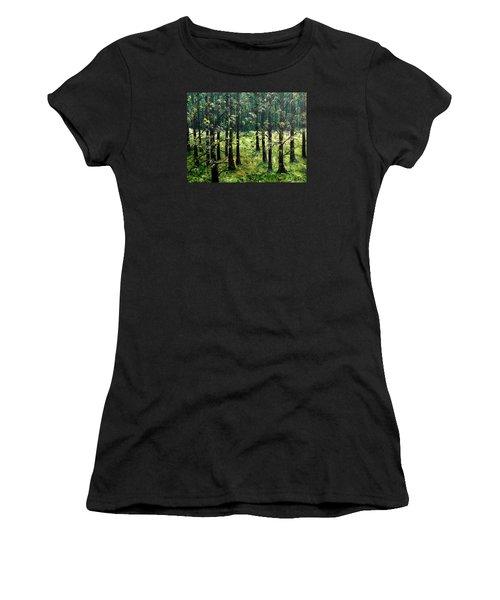 Starting The Game Women's T-Shirt (Junior Cut) by Lisa Aerts