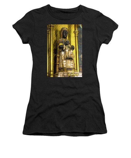 Statue Of The Virgin Mary Women's T-Shirt (Athletic Fit)