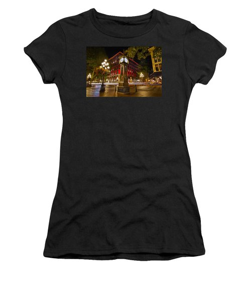 Steam Clock In Historic Gastown Vancouver Bc Women's T-Shirt (Athletic Fit)