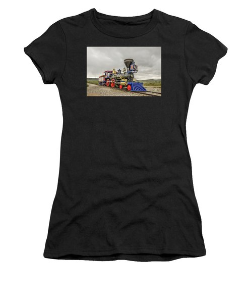 Women's T-Shirt (Athletic Fit) featuring the photograph Steam Locomotive Jupiter by Sue Smith