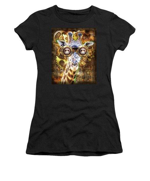 Steam Punk Giraffe Women's T-Shirt