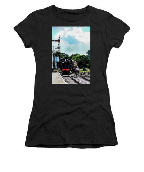 Steam Train Approaching Women's T-Shirt