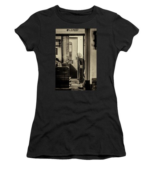 Women's T-Shirt (Athletic Fit) featuring the photograph Steam Train Series No 33 by Clare Bambers