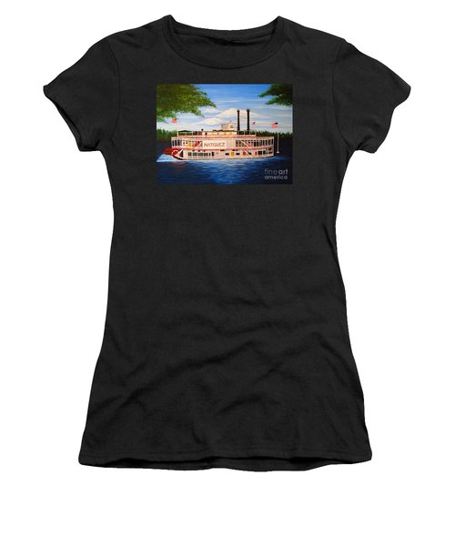 Steamboat On The Mississippi Women's T-Shirt (Athletic Fit)