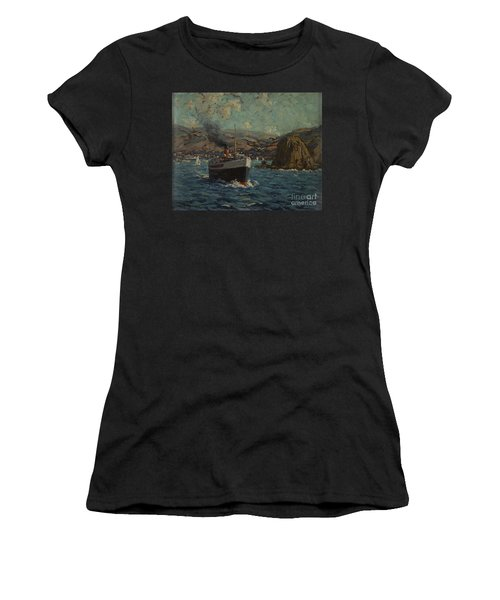 Steamer Leaving Avalon, Catalina Women's T-Shirt